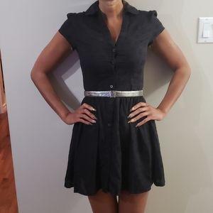 Fun, flirty black cotton dress
